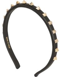 Valentino Rockstud Nappa Leather Headband - Lyst