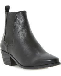 Dune Petra Leather Ankle Boots - Lyst