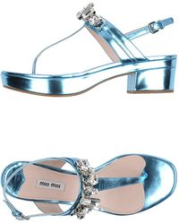 Miu Miu Blue Sandals - Lyst