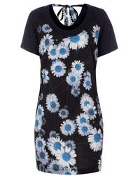 Paul Smith Navy 'Daisies' Print Jersey Dress - Lyst
