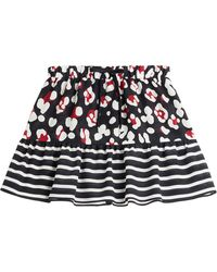 RED Valentino Printed Silk Skirt - Lyst