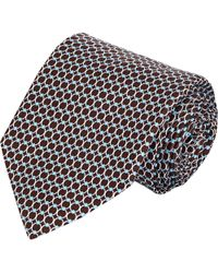 Barneys New York Circle-Print Neck Tie - Lyst