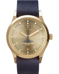 Triwa Gold Lansen Watch Navy Nato Canvas - Lyst