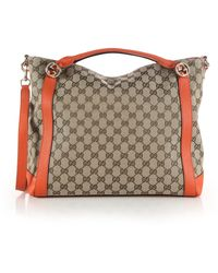 Gucci Miss Gg Medium Original Gg Canvas Top-Handle Bag orange - Lyst