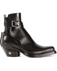 Versace Square Toe Boots - Lyst