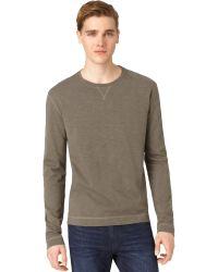 Calvin Klein Green Slub Tshirt - Lyst