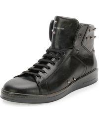 Alexander McQueen Elgar Studded High-top Sneaker - Lyst