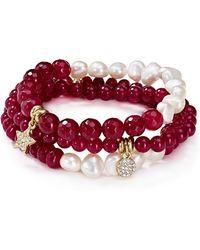 Sequin - Beaded Inspiring Star Bracelets, Set Of 3 - Lyst