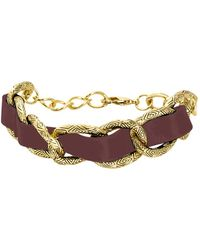 House Of Harlow 1960 Leather Engraved Link Bracelet - Lyst