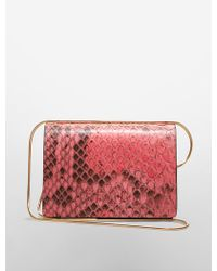 Calvin Klein Collection Python Card Holder With Snake Chain - Lyst
