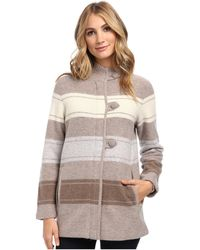 Pendleton Alpine Stripe Boiled Wool Cardigan - Lyst