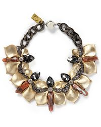 Assad Mounser Stone Crystal Orchid Link Necklace - Lyst