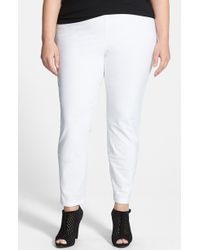 Eileen Fisher Plus Size Women'S Crepe Ankle Pants - Lyst