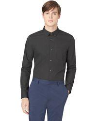 Calvin Klein Solid Sport Shirt - Lyst