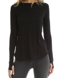 Helmut Lang | Cotton-cashmere Long Sleeve Tee | Lyst