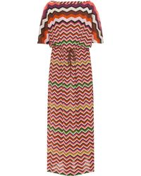 Missoni Multicoloured Zigzag Long Kaftan - Lyst