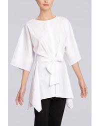 Natori Cotton Shirting Tunic - Lyst