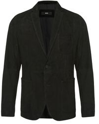 BOSS | 'nuvins' | Regular Fit, Suede Leather Textured Sport Coat | Lyst