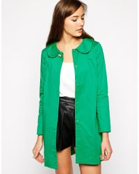 Traffic People Everyone Loves Rainbows Coat With Brooch Detail - Lyst