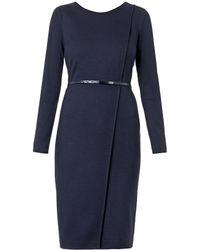 Max Mara Blue Crusca Dress - Lyst