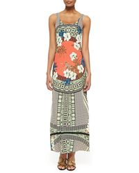 Etro Tank Maxi Dress with Tribal Print - Lyst
