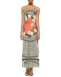 Etro Tank Maxi Dress with Tribal Print - Lyst