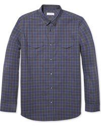 Calvin Klein Heather Checked Button-down Shirt - Lyst