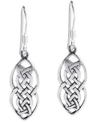 Aeravida - Nice Celtic Drop .925 Silver Dangle Earrings - Lyst