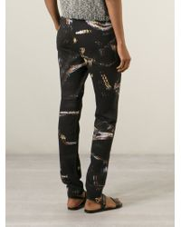 Lala Berlin - Abstract-Print Cotton Joggers - Lyst