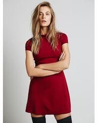 Free People Solid Mock Neck Mini Dress - Lyst