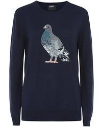 Markus Lupfer Sequin Pigeon Sweater - Lyst