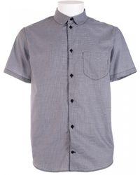 Carven Black And White Halfsleeve Cotton Poplin Shirt gray - Lyst