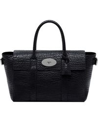Mulberry Large Bayswater Shrunken Leather Bag - Lyst