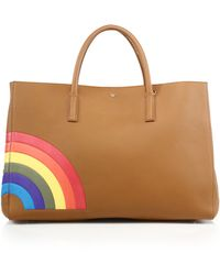 Anya Hindmarch   Ebury Maxi Featherweight Rainbow Leather Tote   Lyst