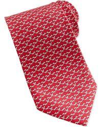 Ferragamo Fox Silk Tie - Lyst
