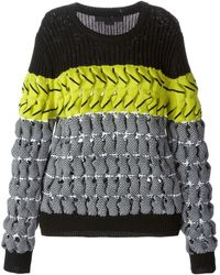 Alexander Wang Twisted Knit Sweater - Lyst