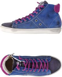 Leather Crown High-Tops & Trainers blue - Lyst