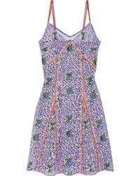 Mary Katrantzou Embroidered Tulle Dress - Lyst