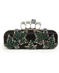 Alexander McQueen Swarovski Ivy Embroidery Knuckle Box Clutch - Lyst