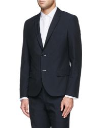 Band of Outsiders Cotton Twill Blazer blue - Lyst