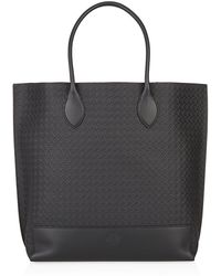 Mulberry Blossom Basket Weave Embossed Nappa Tote - Lyst