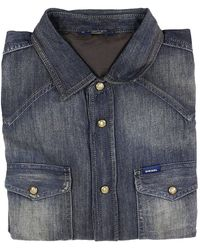 Diesel Shirt Sonora Denim Used With Snaps blue - Lyst