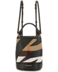 Burberry Prorsum | Leather-trimmed Check Backpack | Lyst