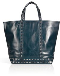 Vanessa Bruno Studded Leather Big Cabas Bag - Lyst