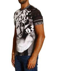 Versace Tshirt Short Sleeve Crewneck Medusa Print - Lyst