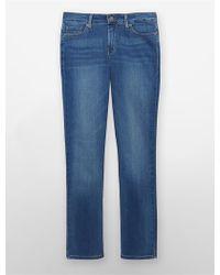 Calvin Klein Jeans Straight Leg Blue Porcelain Jeans - Lyst