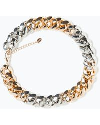 Zara Mixed Colour Chain Necklace - Lyst