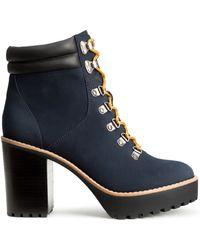 H&M Heeled Platform Boots - Lyst