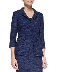 St. John Collection 5button Blazer Jacket - Lyst