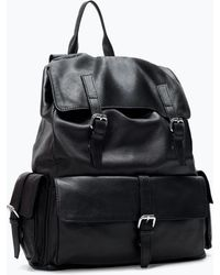 Zara Retro Leather Backpack - Lyst